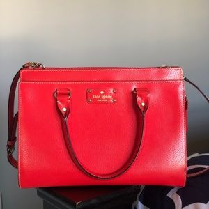 Kate spade red pebbled purse